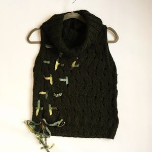 MAG Sleeveless Cowl Sweater Green Size M NWT